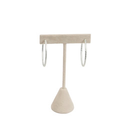 "Faux Suede Single Earring T-Stand 5 3/4""H Display"