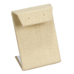 Beige Linen Single with Flap Earring Display