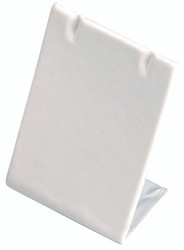 White Single Rectangular Earring Display