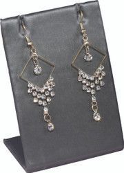 Steel Grey Single Rectangular Earring Display