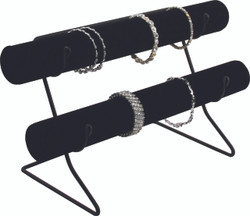 Black Velvet Double Tube Bars with Wire Base