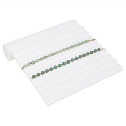 White 9 Slotted Sloped Bracelet Ramp