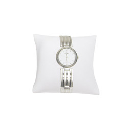 """3"""" White Leatherette Pillow Displays"""