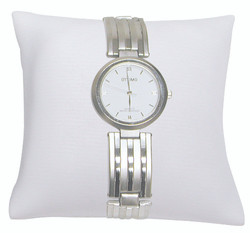 """4"""" White Leatherette Pillow Displays"""