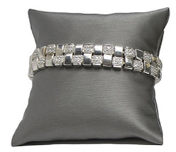 "4"" Steel Grey Pillow Displays"