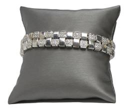"4"" Steel Grey Pillow Displays"