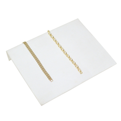"White Leatherette 10 1/4"" Wide Bracelet Ramp"