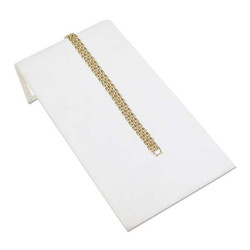 "White Leatherette 4 3/4"" Wide Bracelet Ramp"