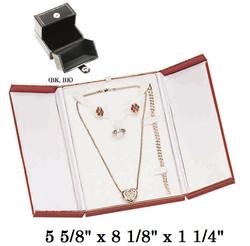 Black/Black Combination Set Snap-Tab Leatherette Box