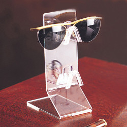 2 Tier Slanted Base Acrylic Eyewear Display