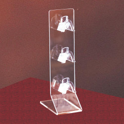 3 Tier Slanted Base Acrylic Eyewear Display Display