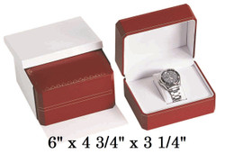 Red Premium Watch Classic Leatherette Box