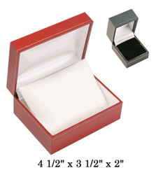 Black Small Watch w/Pillow white satin interior Black classic Leatherette gift Box