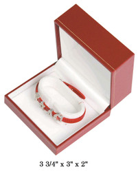 Red Bangle/Watch w/White Satin interior Classic Leatherette Box