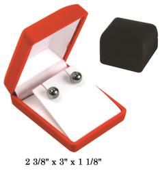 Soft Flocked Black Velour Pendant/Earring Gift Box