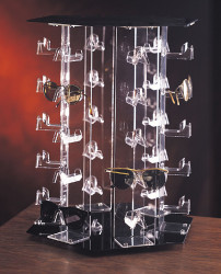 30 Pairs Hex Shaped Rotating Eyewear Display