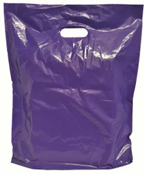 "20"" x 20"" x 5"" Purple Patch Handle Bags (50 Bags/Pk)"