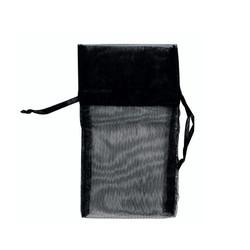 "Black Organza Bags - 12 Bags/Pack (6""W x 8""H)"