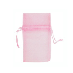 "Light Pink Organza Bags - 12 Bags/Pack (5""W x 6""H)"
