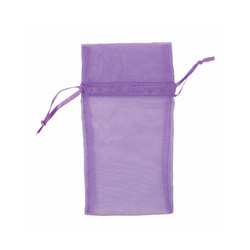 "Purple Organza Bags - 12 Bags/Pack (5""W x 6""H)"