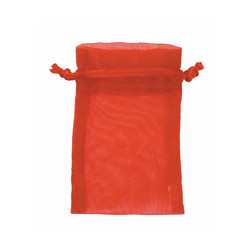 "Red Organza Bags - 12 Bags/Pack (5""W x 6""H)"