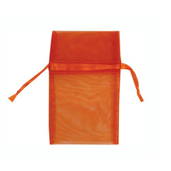 "Orange Organza Bags - 12 Bags/Pack (5""W x 6""H)"