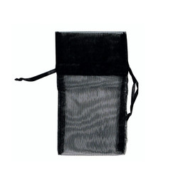 "Black Organza Bags - 12 Bags/Pack (4""W x 5""H)"