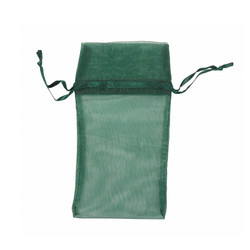 "Hunter Green Organza Bags - 12 Bags/Pack (2 3/4""W x 3""H)"