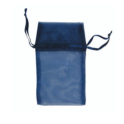 "Navy Organza Bags - 12 Bags/Pack (2 3/4""W x 3""H)"