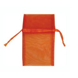 "Orange Organza Bags - 12 Bags/Pack (1 3/4""W x 2""H)"