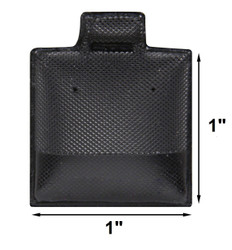 Black Plain Vinyl Puff Pads for Studs - 100Cards/Pack