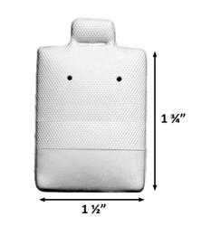 White medium Plain Vinyl Puff Pads for Studs - 100Cards/Pack