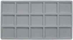 Grey 15 Compartment Flocked Tray Insert