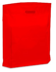 "Red 9"" x 12"" Patch Handle Bags (100 Bags/Pk)"
