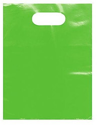 "Lime 9"" x 12"" Patch Handle Bags (100 Bags/Pk)"