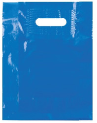 "Blue 9"" x 12"" Patch Handle Bags (100 Bags/Pk)"