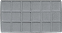 Grey 18 Compartment Flocked Tray Insert Tray Liner
