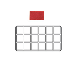 Red 18 Compartment Flocked Tray Insert Tray Liner