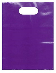 "Purple 15"" x 18"" x 4"" Patch Handle Bags (100 Bags/Pk)"