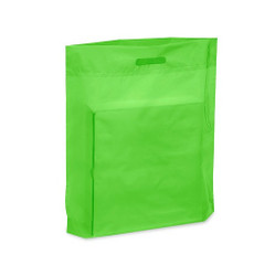 "Lime 15"" x 18"" x 4"" Patch Handle Bags (100 Bags/Pk)"