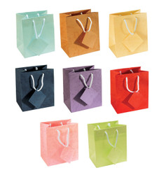 "Assorted Pastel Tote Bag - 4 3/4"" x 2 1/2"" x 6 3/4""H (10Bags/Pack)"