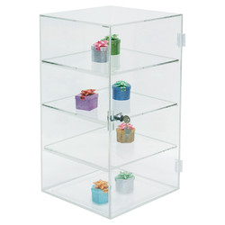 3 Removable shelf acrylic case