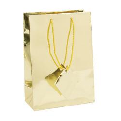 """Gold Metallic Tote Bag - 4 3/4"""" x 2 1/2"""" x 6 3/4""""H (10Bags/Pack)"""