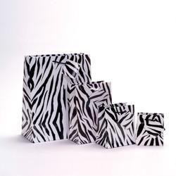 """Zebra Print Glossy Tote Bag - 4"""" x 2 3/4"""" x 4 1/2""""H (10Bags/Pack)"""