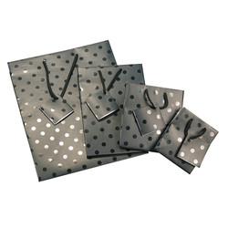 """Polka Dot Spot Coating Tote Bag - 8"""" x 5"""" x 10""""H (10Bags/Pack)"""
