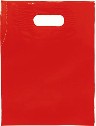 "Red12"" x 15"" Patch Handle Bags (100 Bags/Pk)"