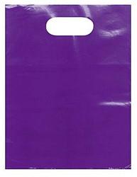 "Purple 12"" x 15"" Patch Handle Bags (100 Bags/Pk)"