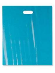 "Teal 12"" x 15"" Patch Handle Bags (100 Bags/Pk)"