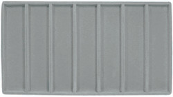 Grey 7 Compartment Flocked Tray Insert Liner