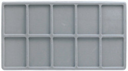 Grey 10 Compartment Flocked Tray Insert Tray Liner